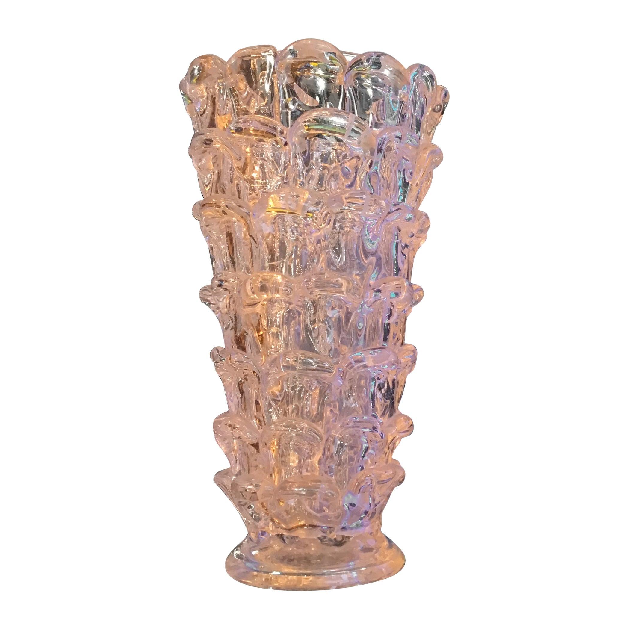 """Barovier """"orecchiette vase"""" Murano Glass 1940 Italy"""