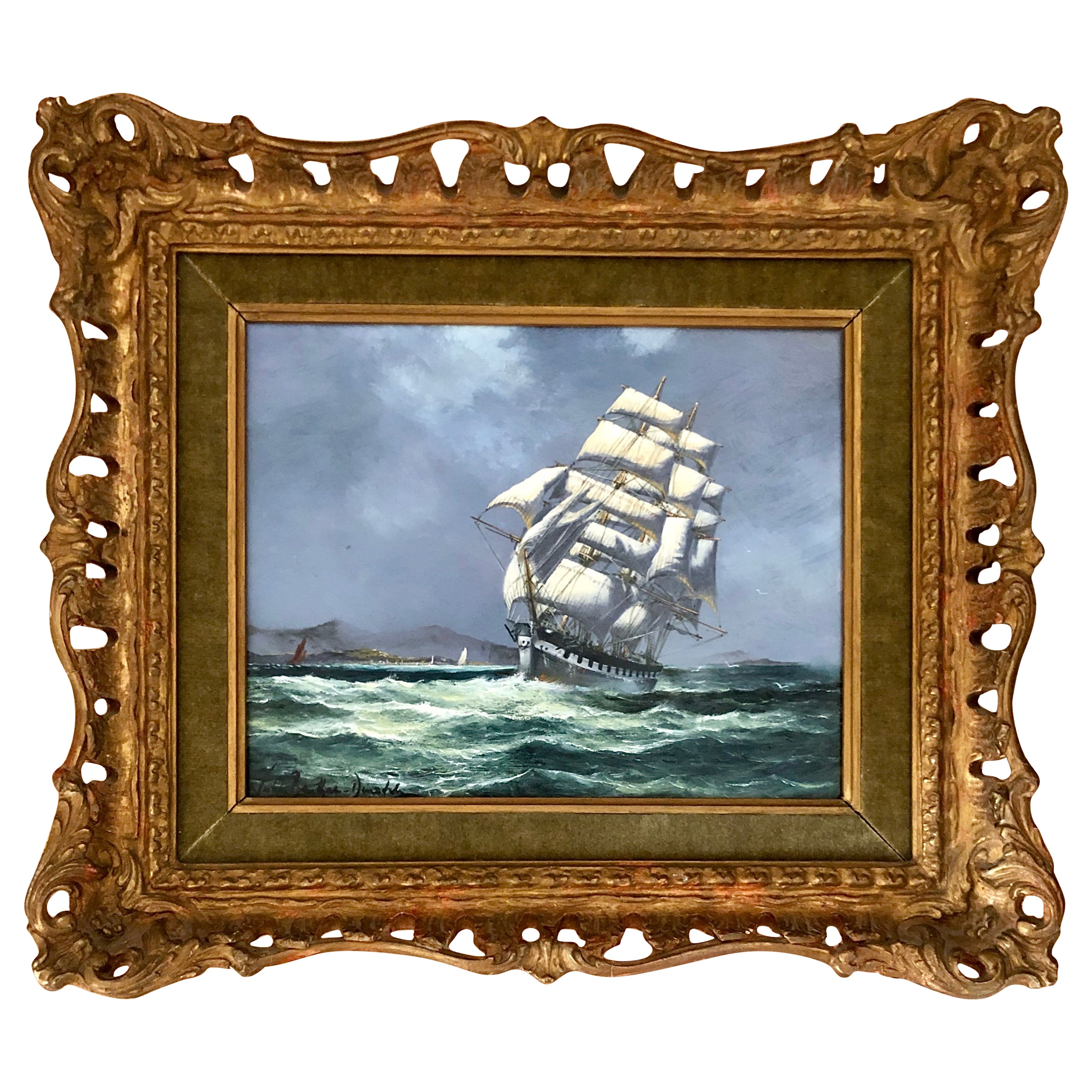 """""""Clipper at Full Sail"""" by John Bentham-Dinsdale"""