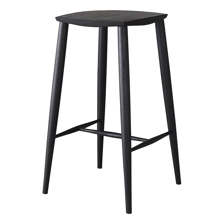 White Oak Minimalist Bar Stool by Coolican & Company