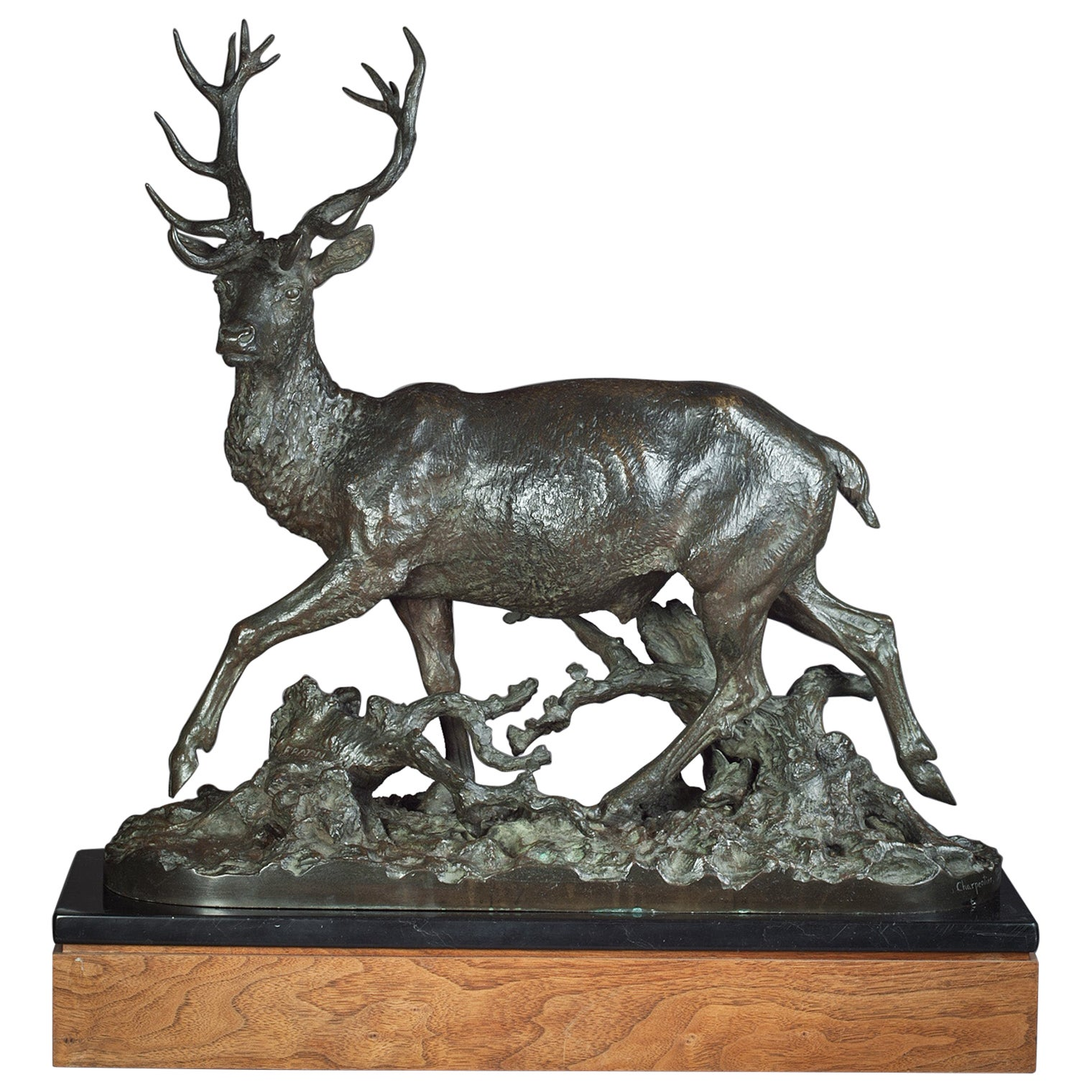 Bronze Figure of an Antelope, by Christophe Fratin, circa 1870