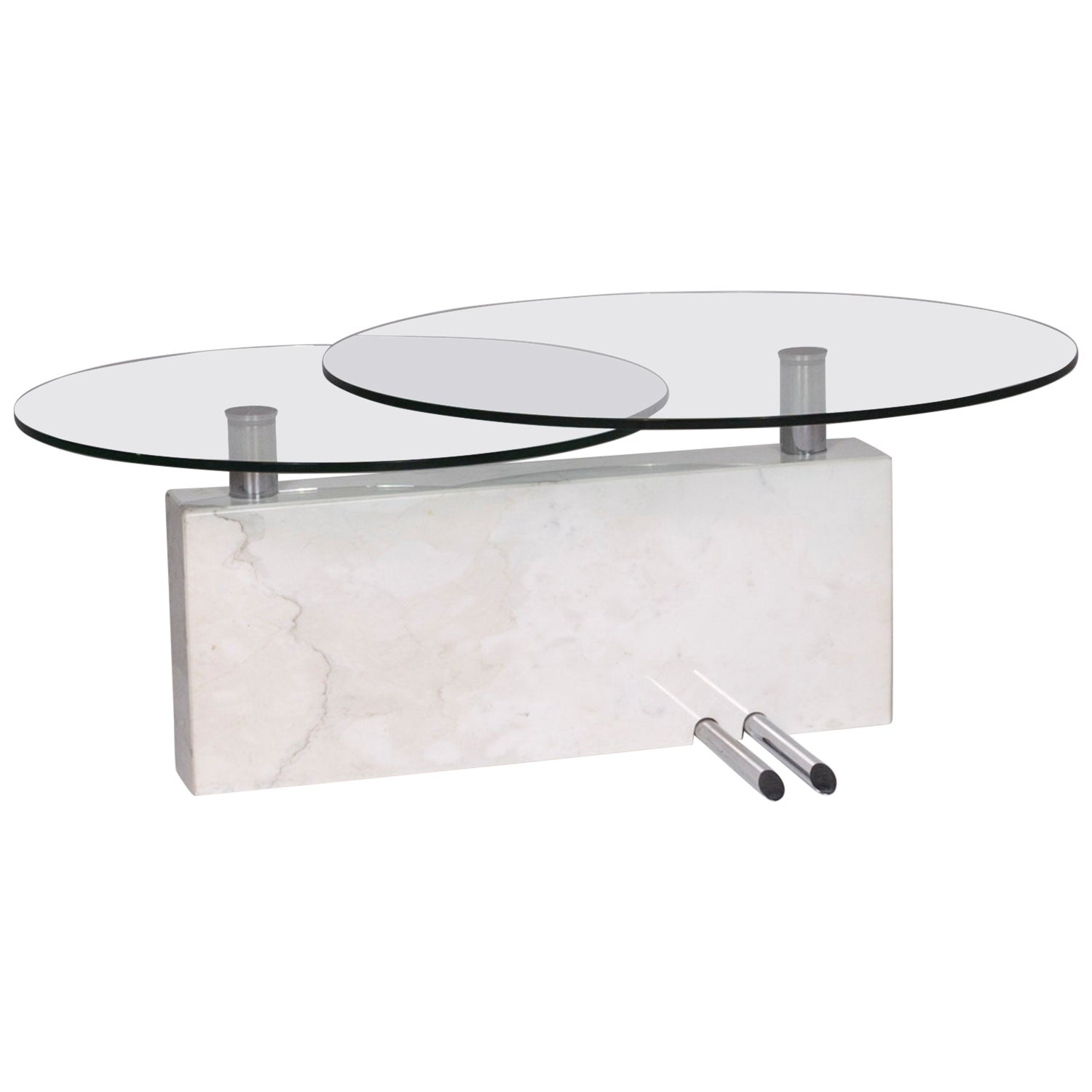 Rolf Benz Glass Marble Coffee Table Function Table