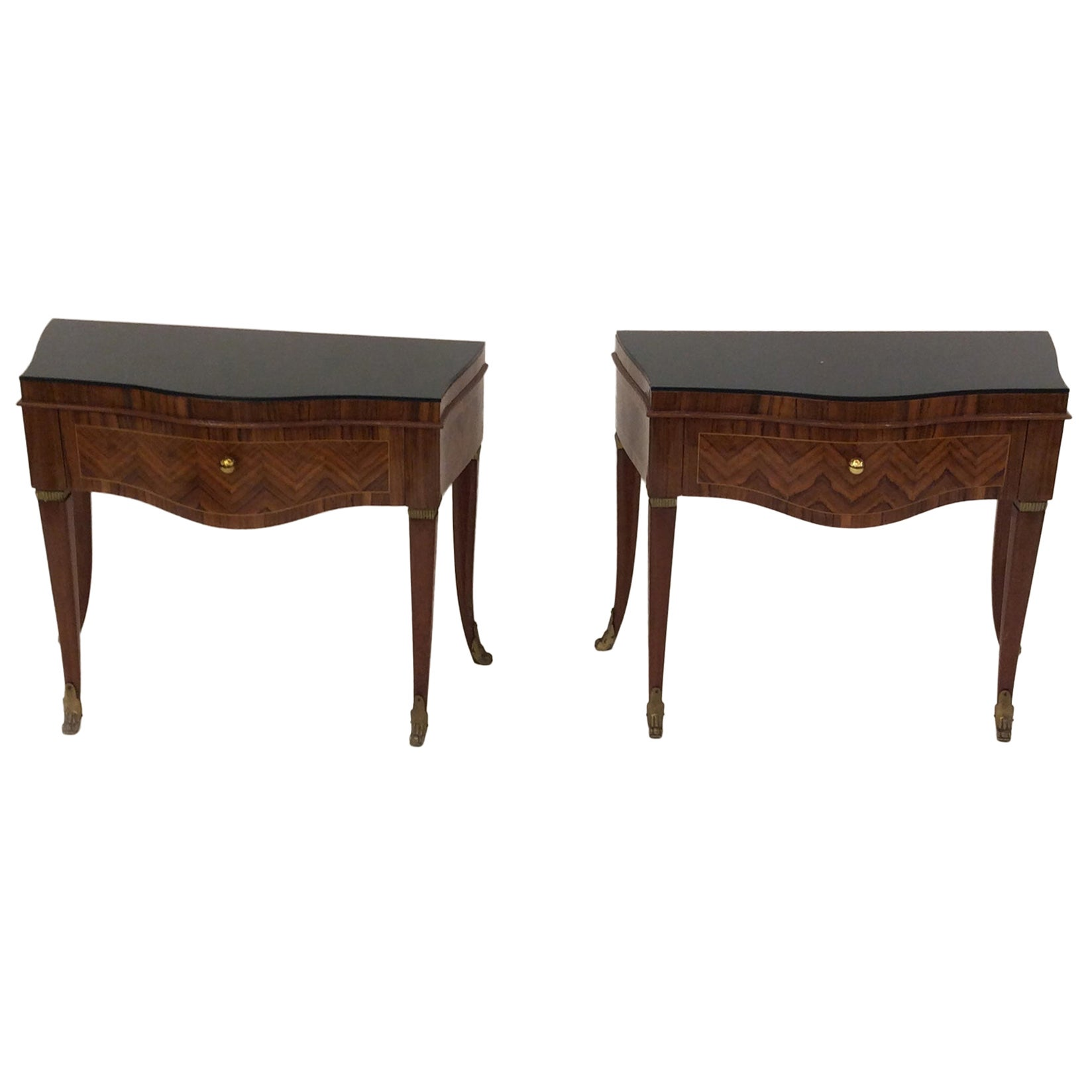 Italian Side Tables/Nightstands, 1940s