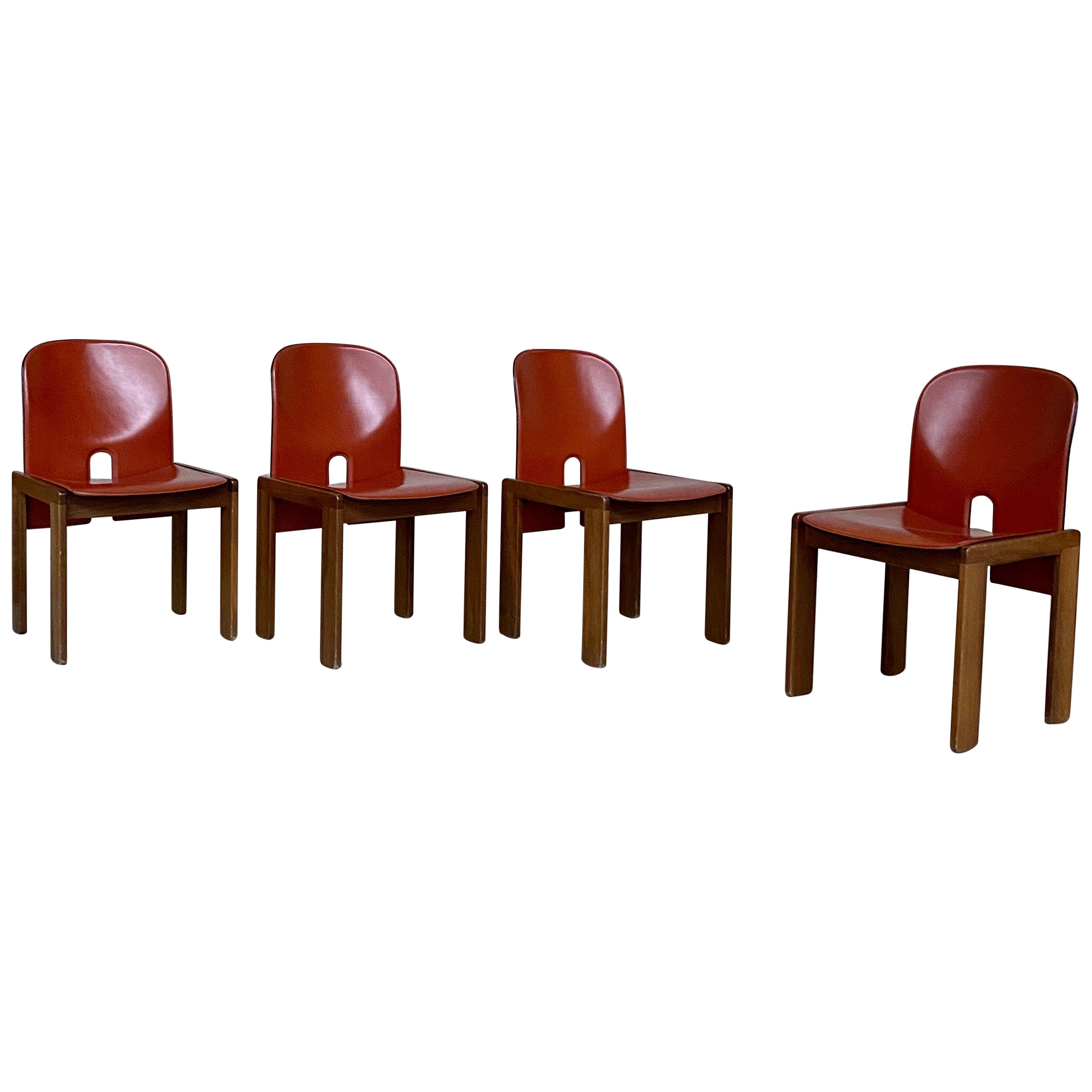 "Afra & Tobia Scarpa ""121"" Dining Chairs for Cassina, 1968, Set of 4"