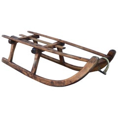 Antique Child's Folk Art Sleigh