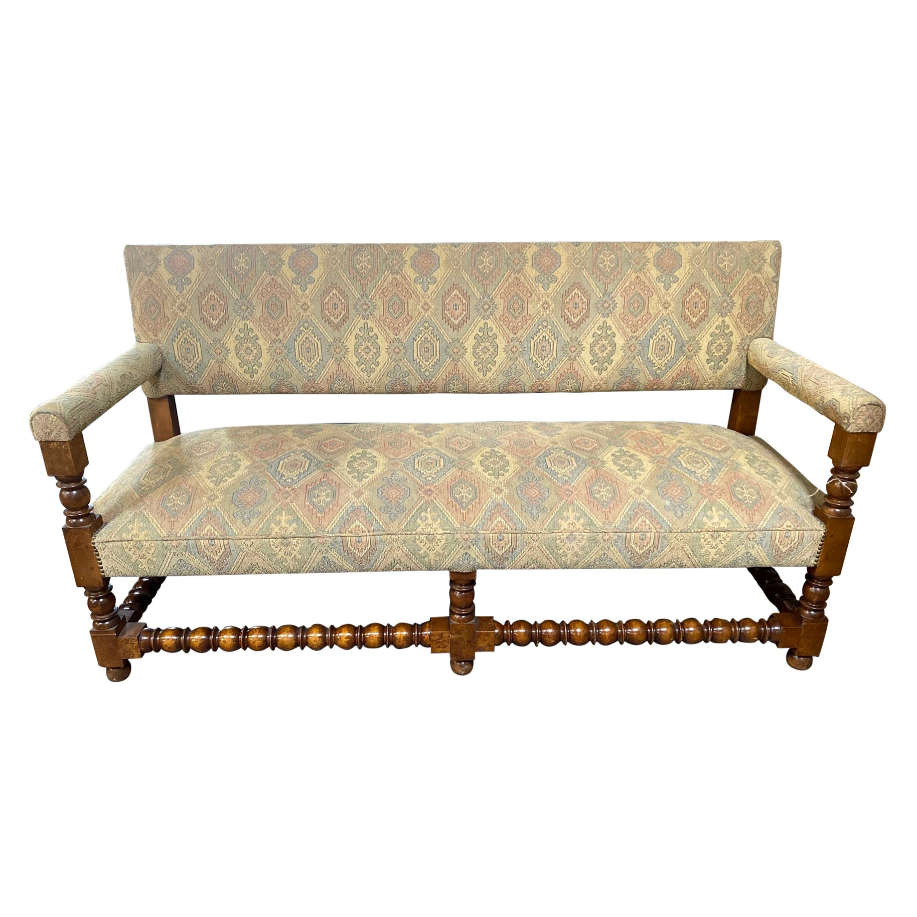 Antique French Upholstered Bench