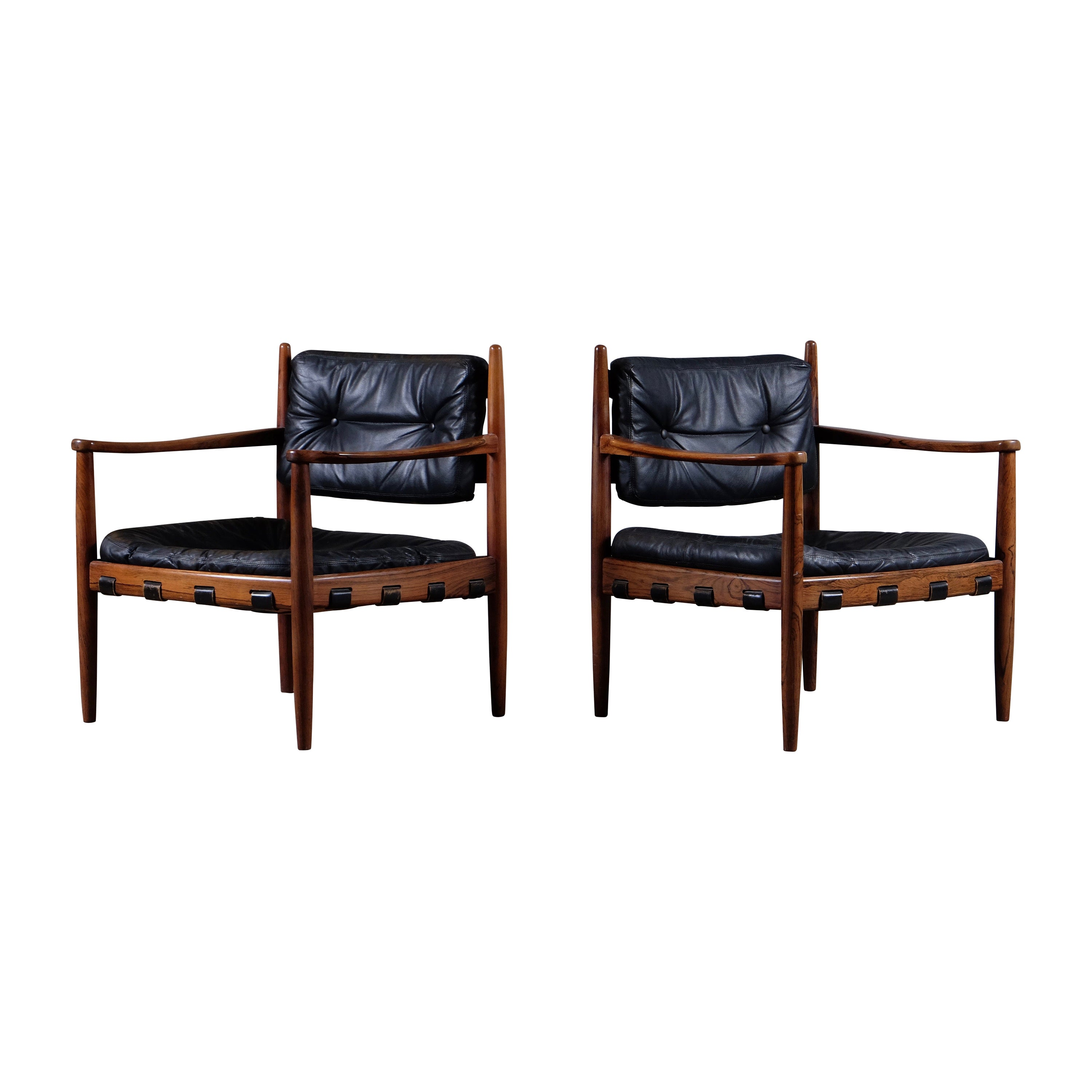 """Pair of """"Cadett"""" Easy Chairs by Eric Merthen, Sweden, 1960s"""