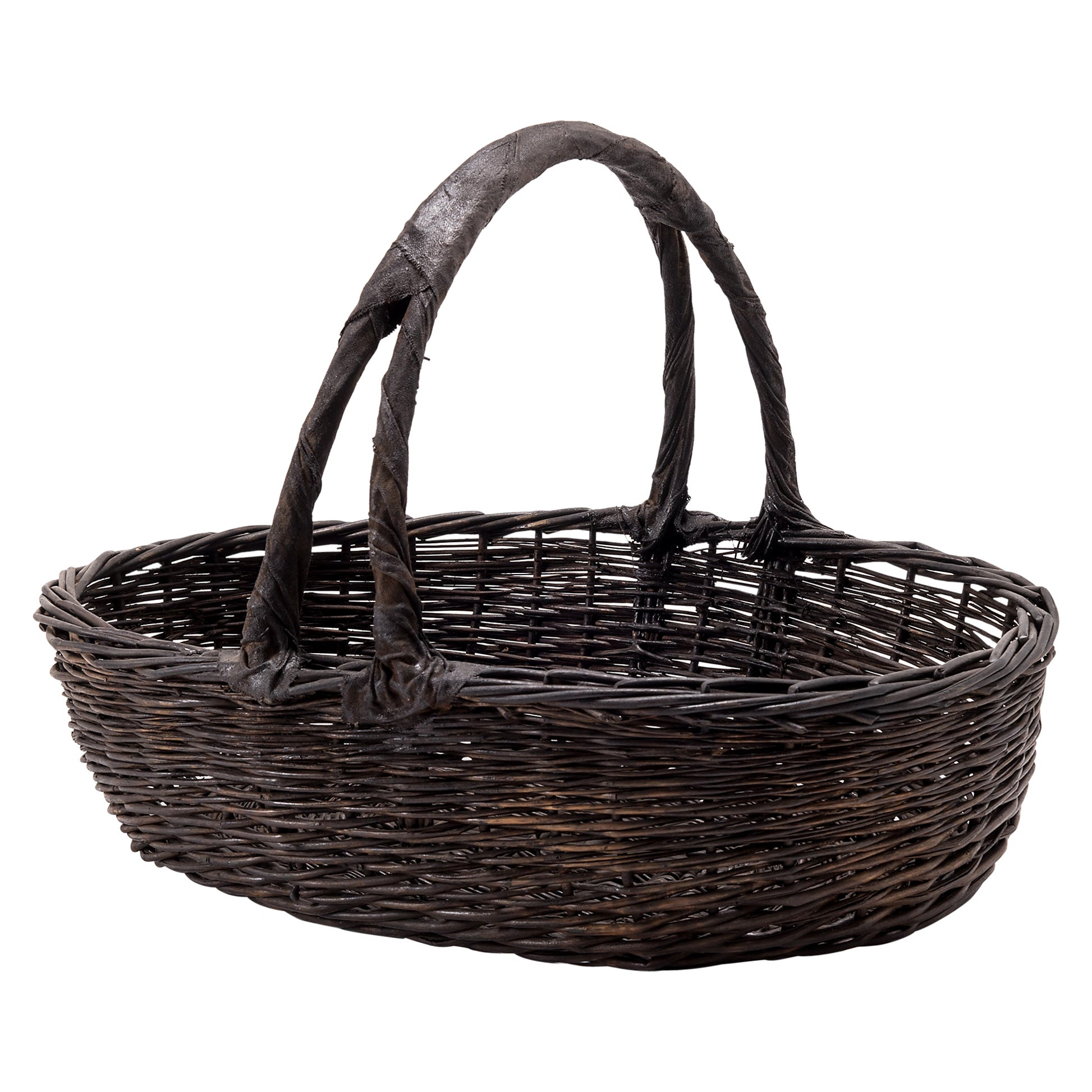 Vintage Chinese Woven Vegetable Basket