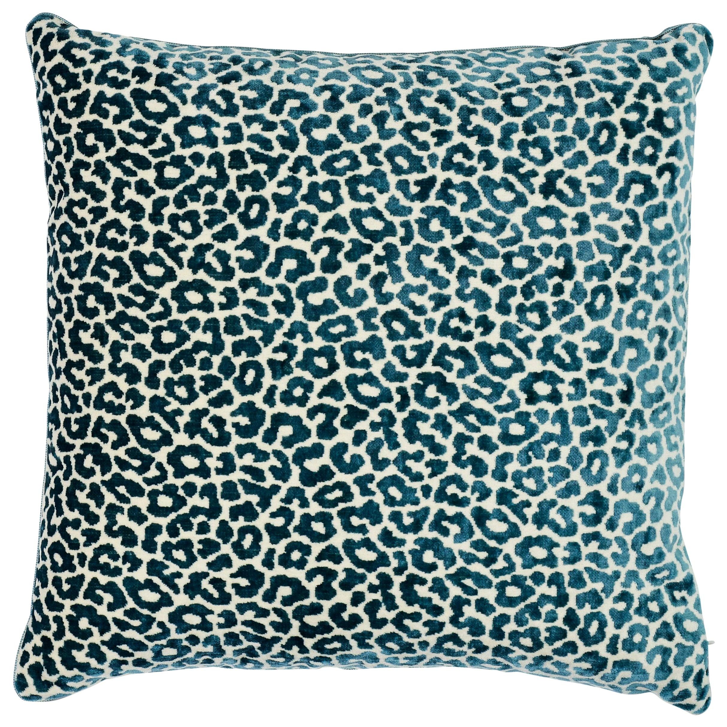 Schumacher Madeleine Cadet Two-Sided Velvet Pillow