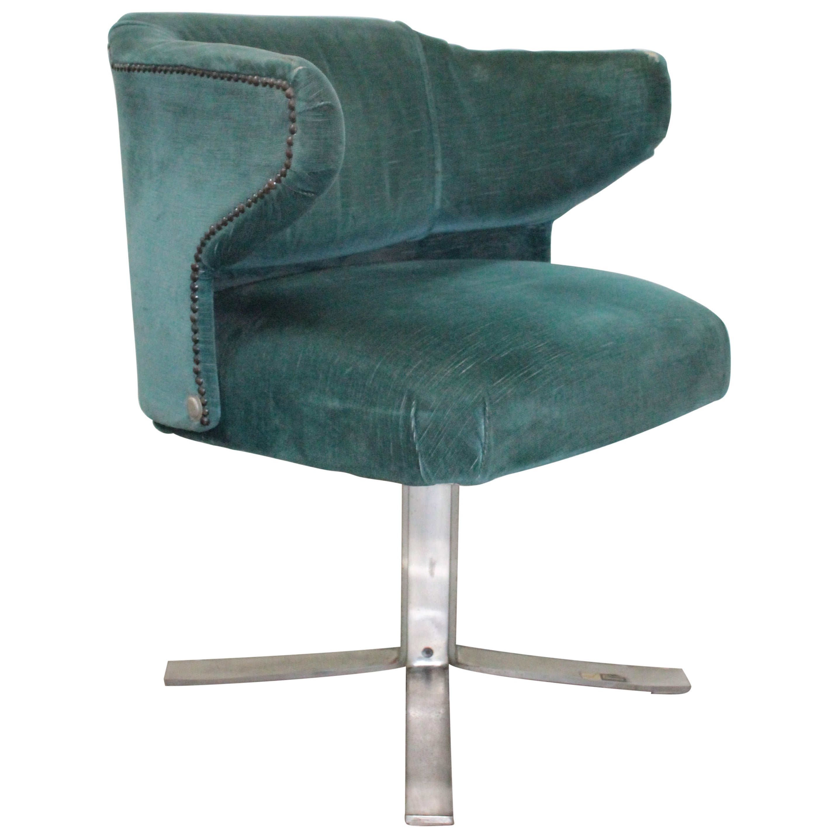 Vintage Italian Revolving Armchair by Gianni Moscatelli for Formanova, 1970s