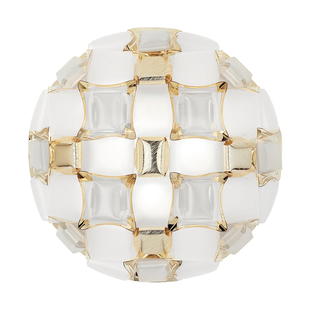 Slamp Mida Wall/Ceiling Light White Gold by Adriano Rachele
