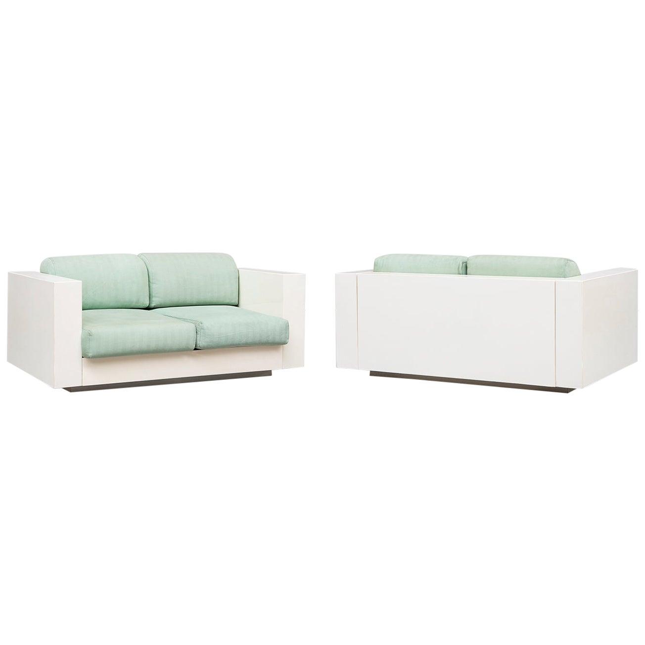 Italian Two-Seat Saratoga Sofas, by Vignelli Associates for Poltronova, 1964