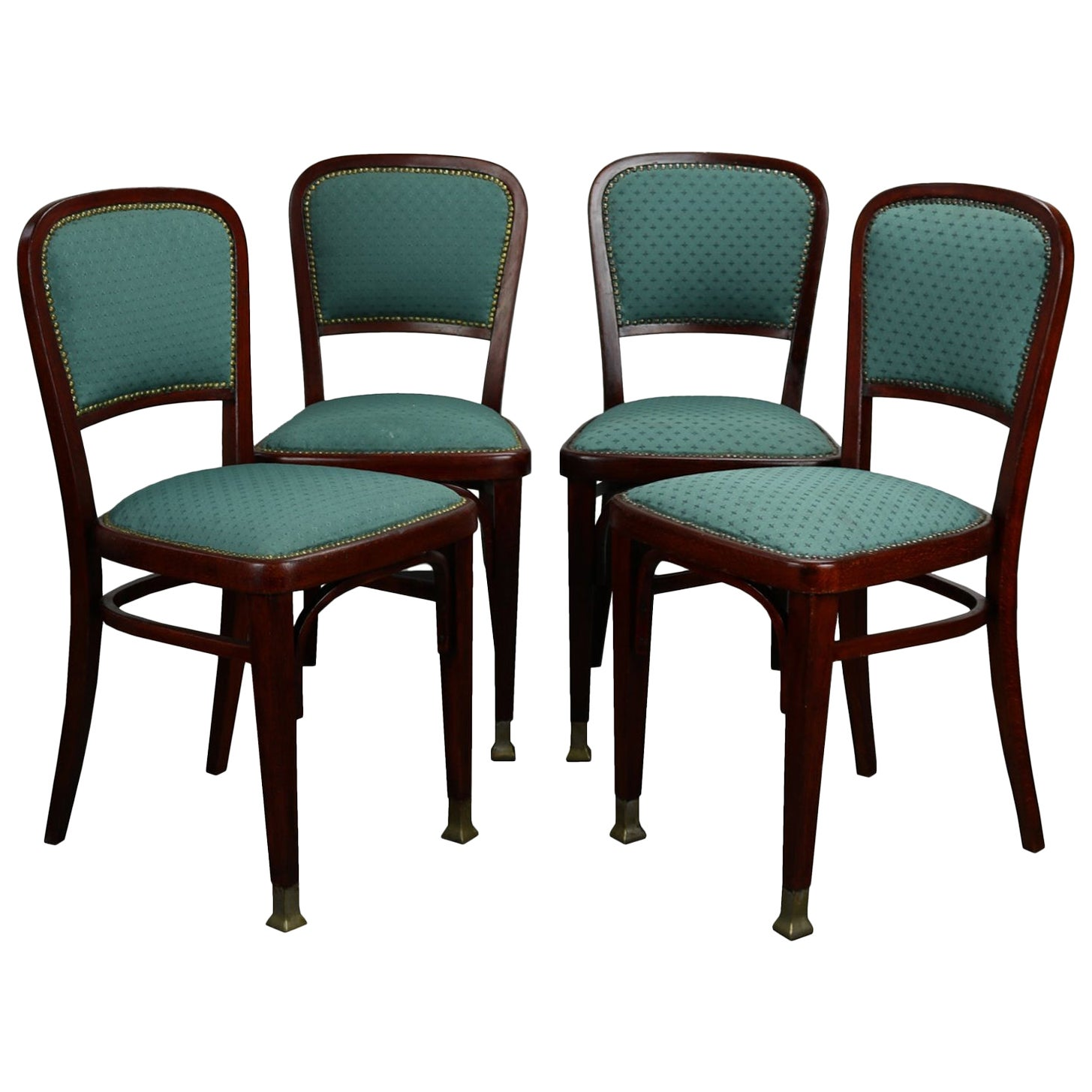 Set of Four Chairs by Marcel Kammerer for Thonet, circa 1910