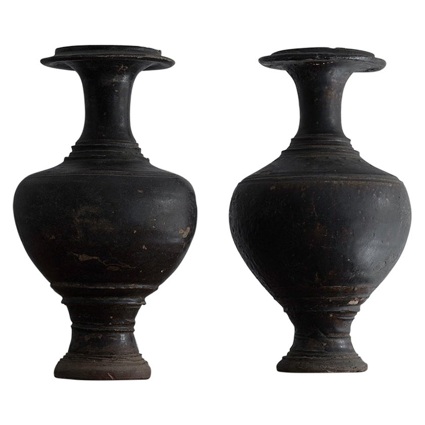 Unusual Near Pair of Khmer Vessels, Angkor Wat Period, 11th-12th Century