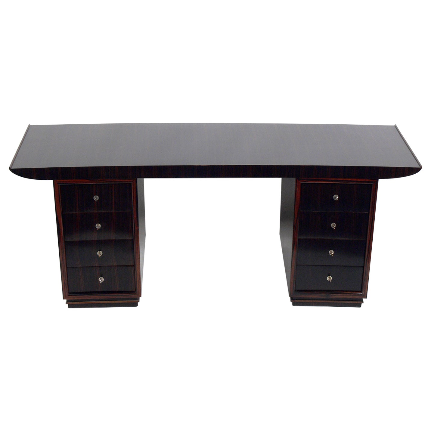French Art Deco Macassar Desk by Dominique