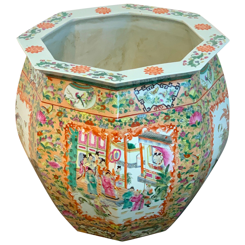 Chinese Famille Rose Octagonal Fish Bowl/ Jardinière