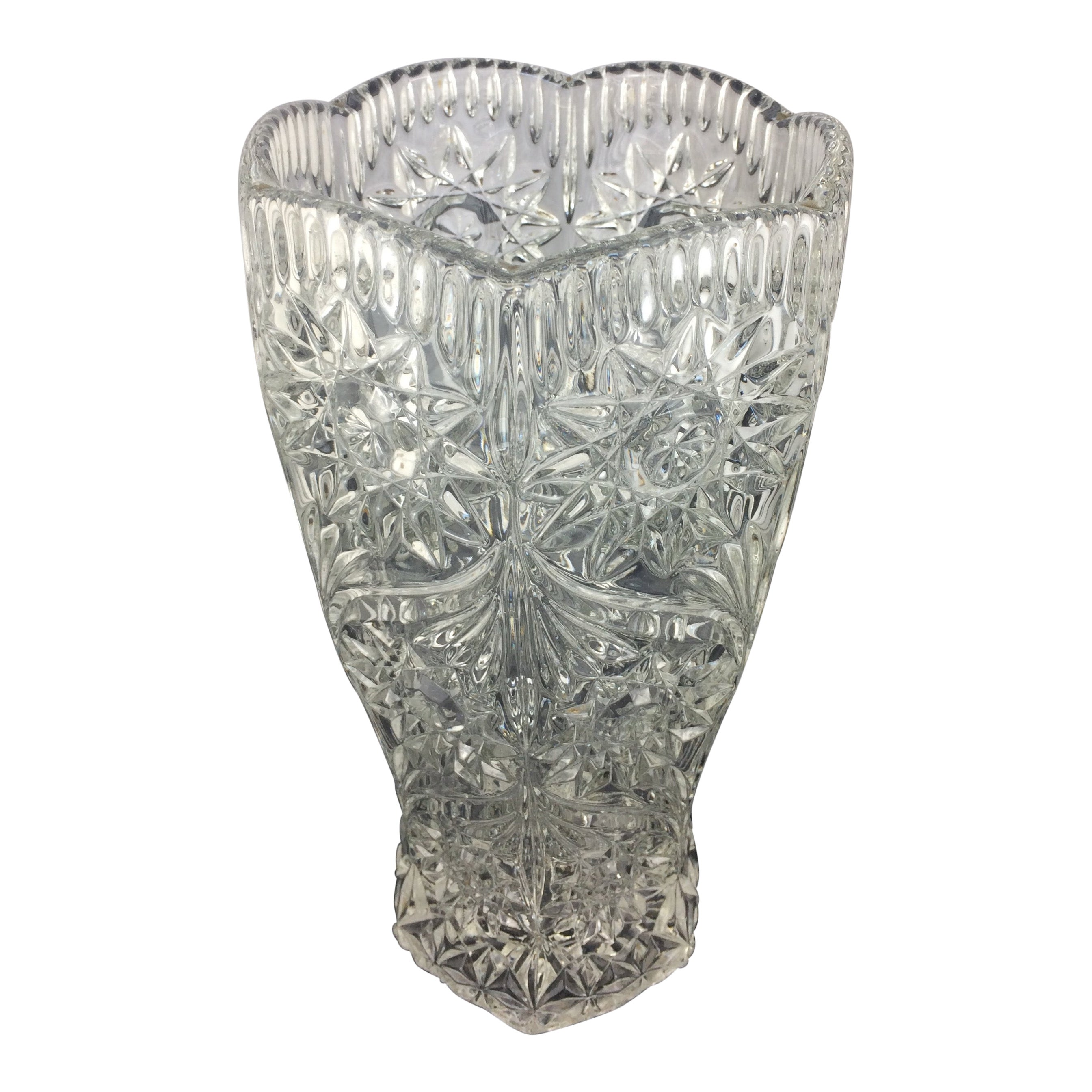 French Crystal Glass Vase