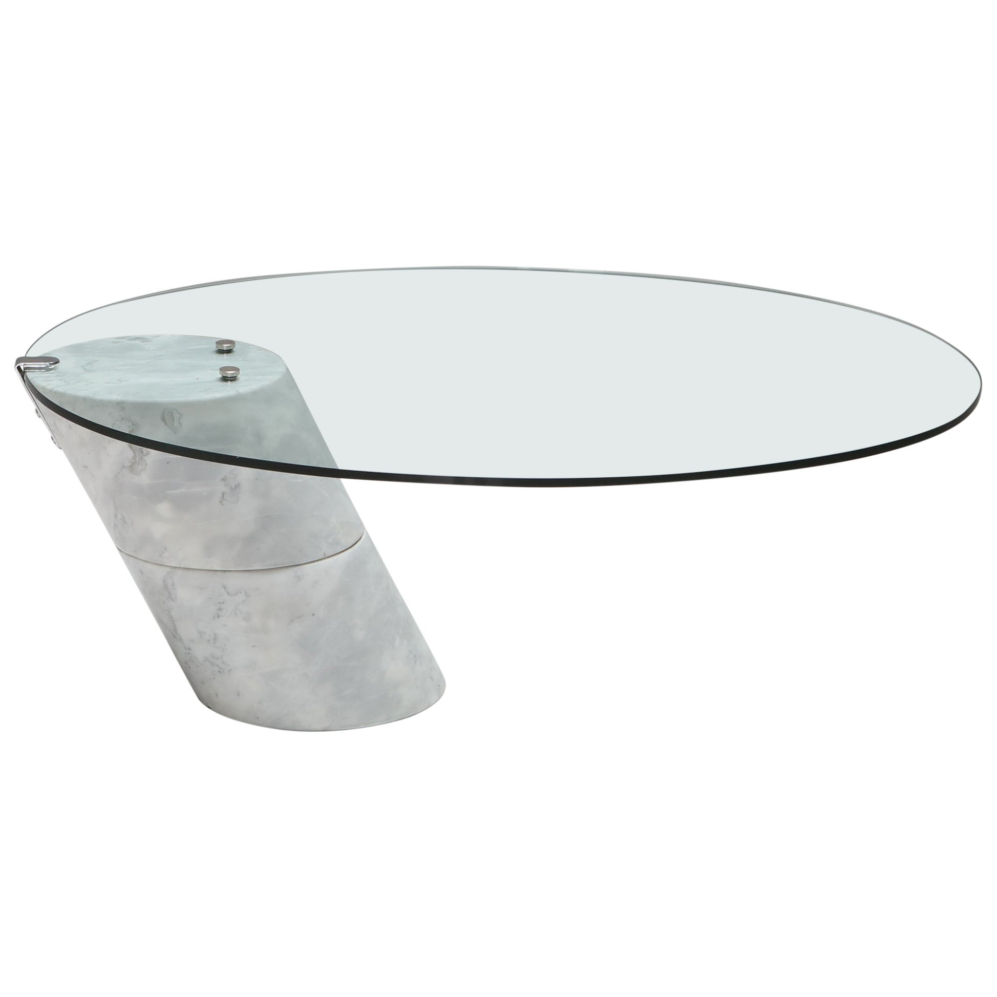Postmodern Marble Coffee Table by Ronald Schmitt