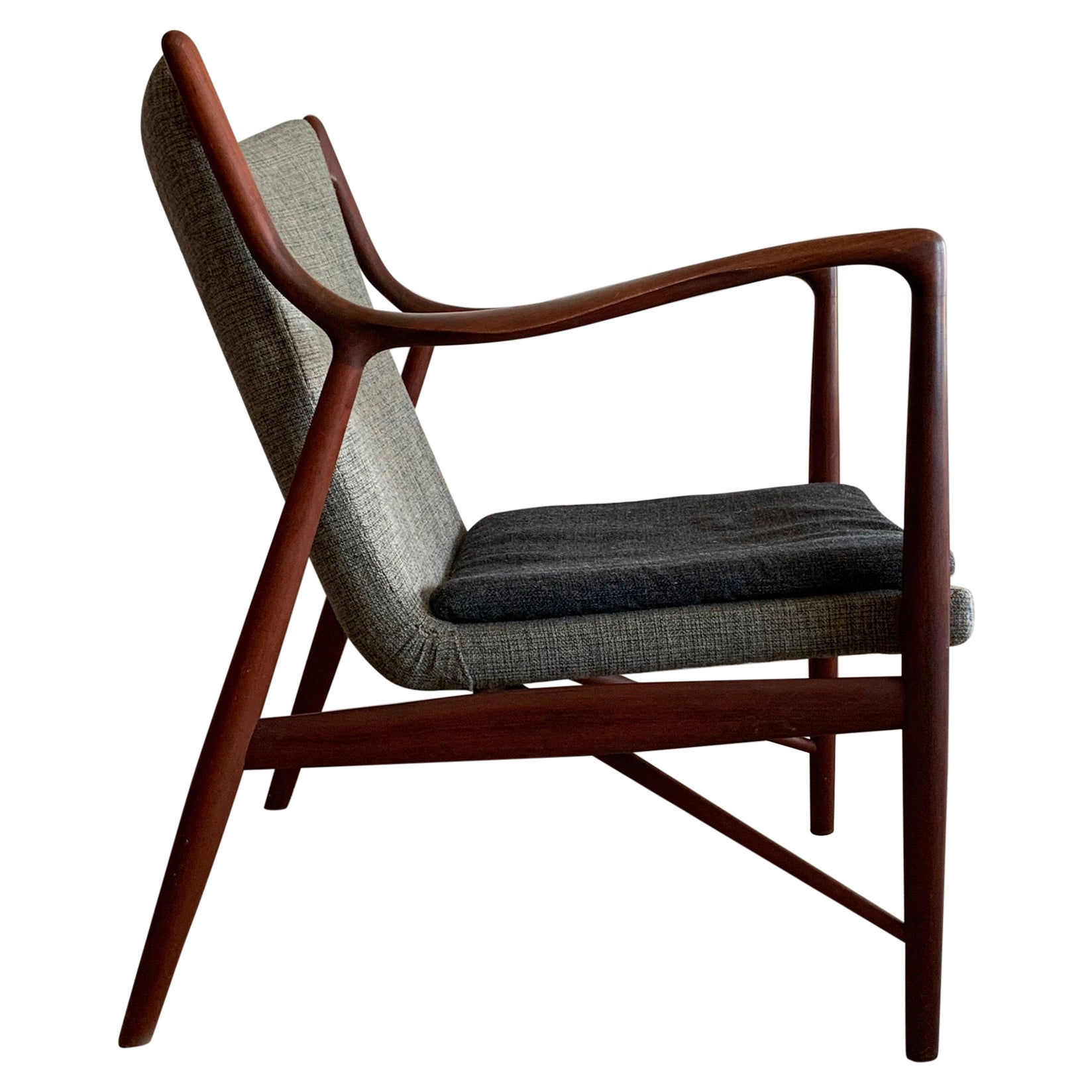 Original Finn Juhl NV45 Chair by Niels Vodder Denmark