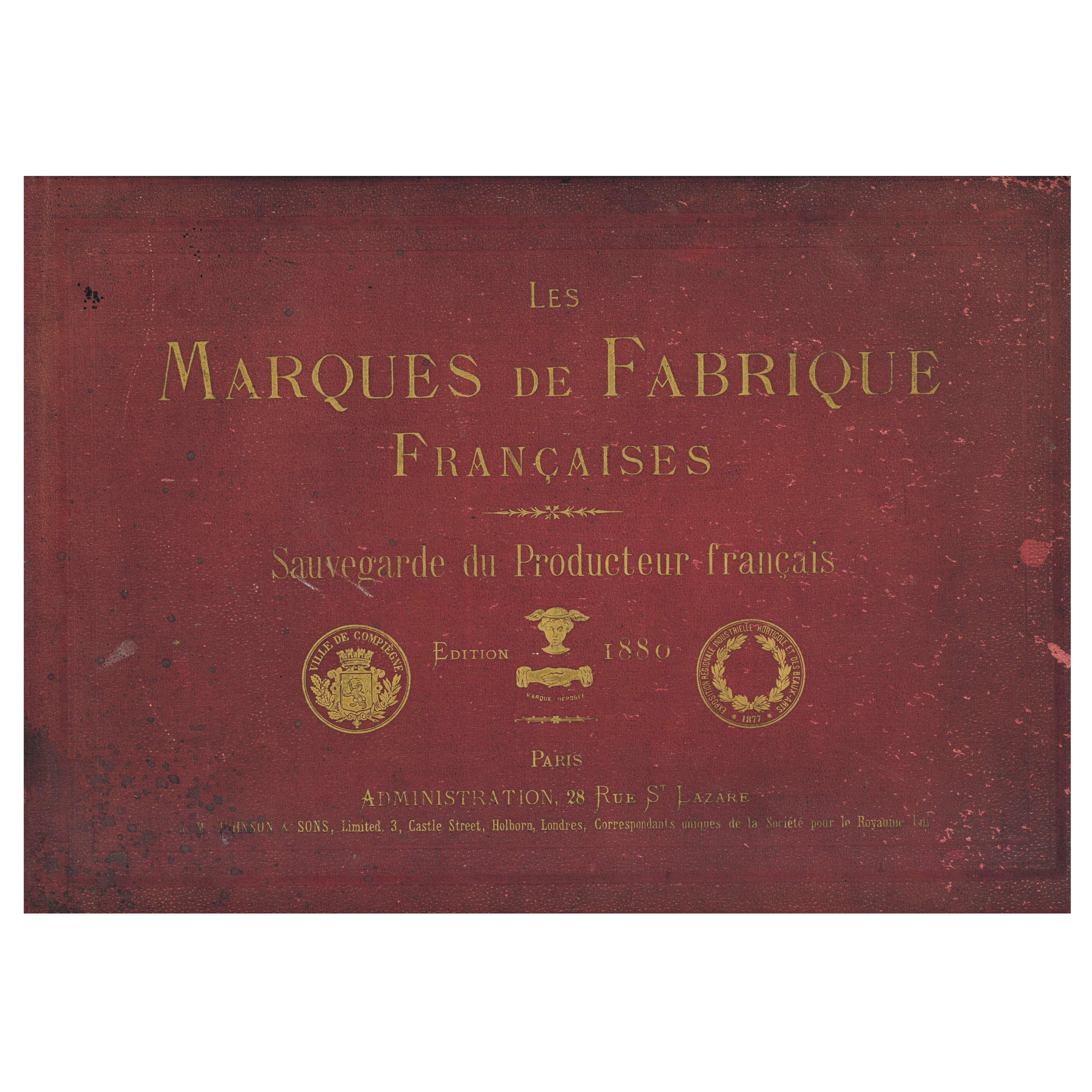 Les Marques de Fabrique Francaises, Book of French Product Labels from 1880
