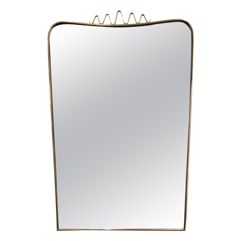 Italian Brass Mirror, 1940s