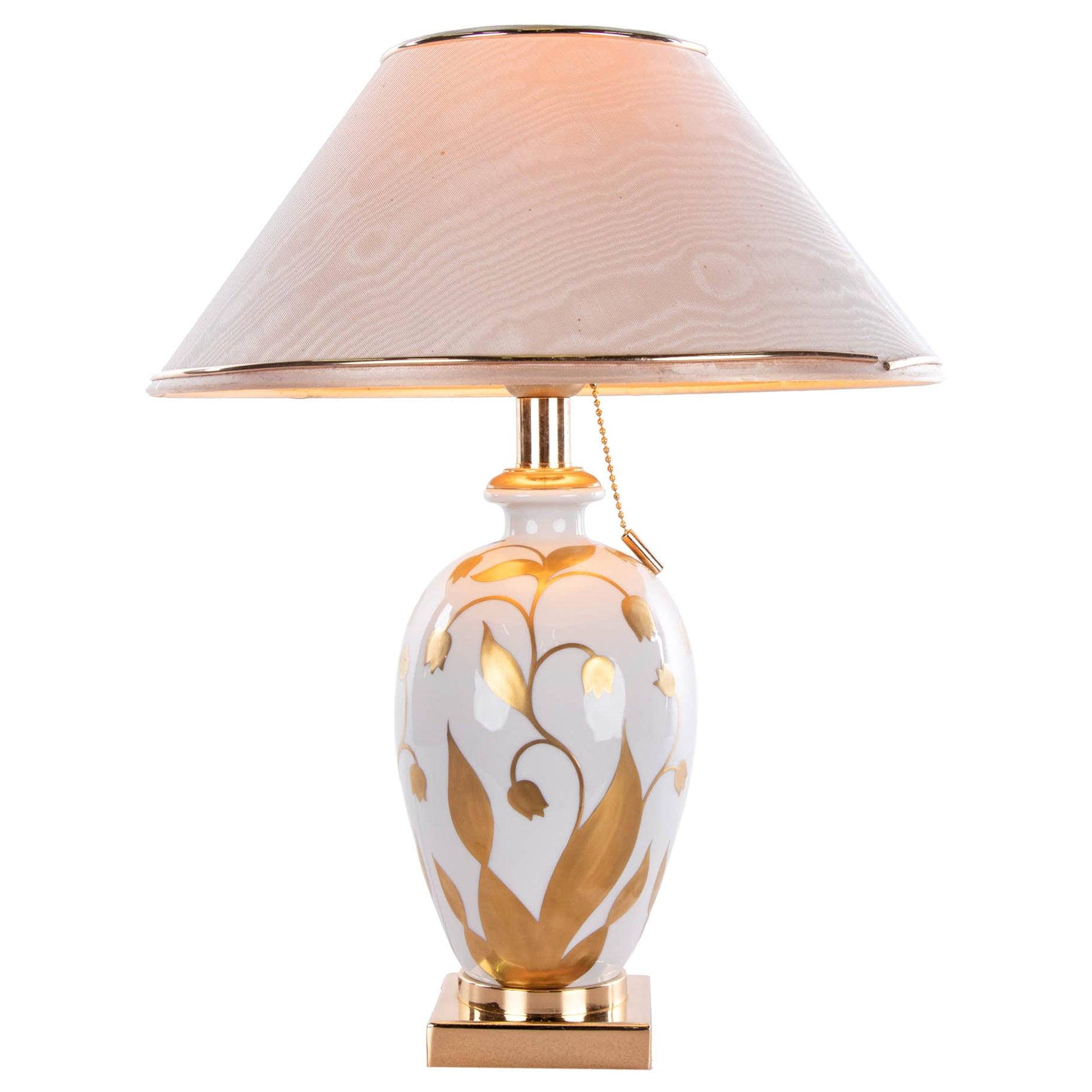 Giulia Mangani Porcelain Table Lamp - Lilium Collection, Italy, Florence