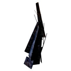 American Modern Fiberglass & Acrylic Abstract Expressionist Sculpture, Moshe Y