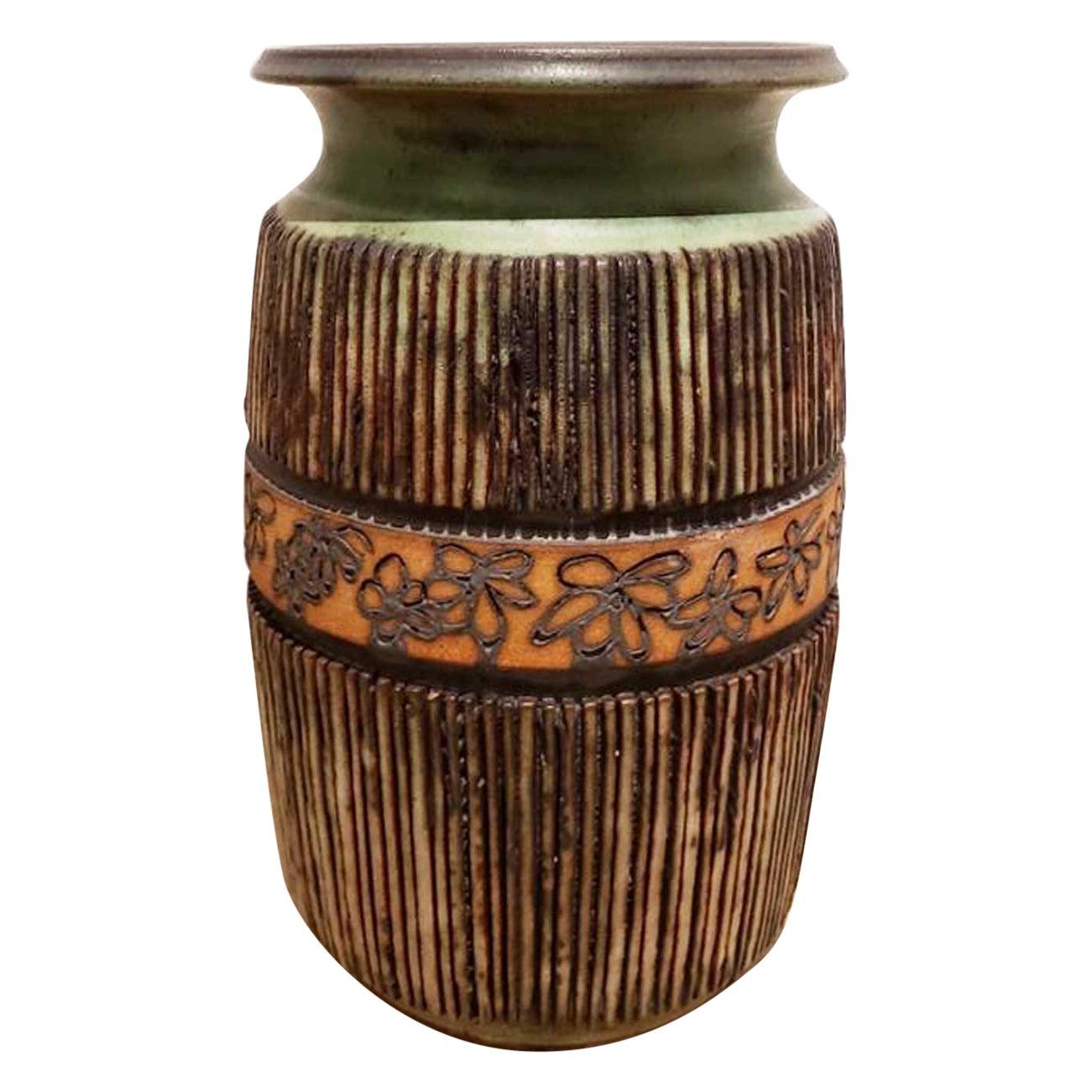 Andrew Bergloff '1929-2015' Signed Ceramic Vase