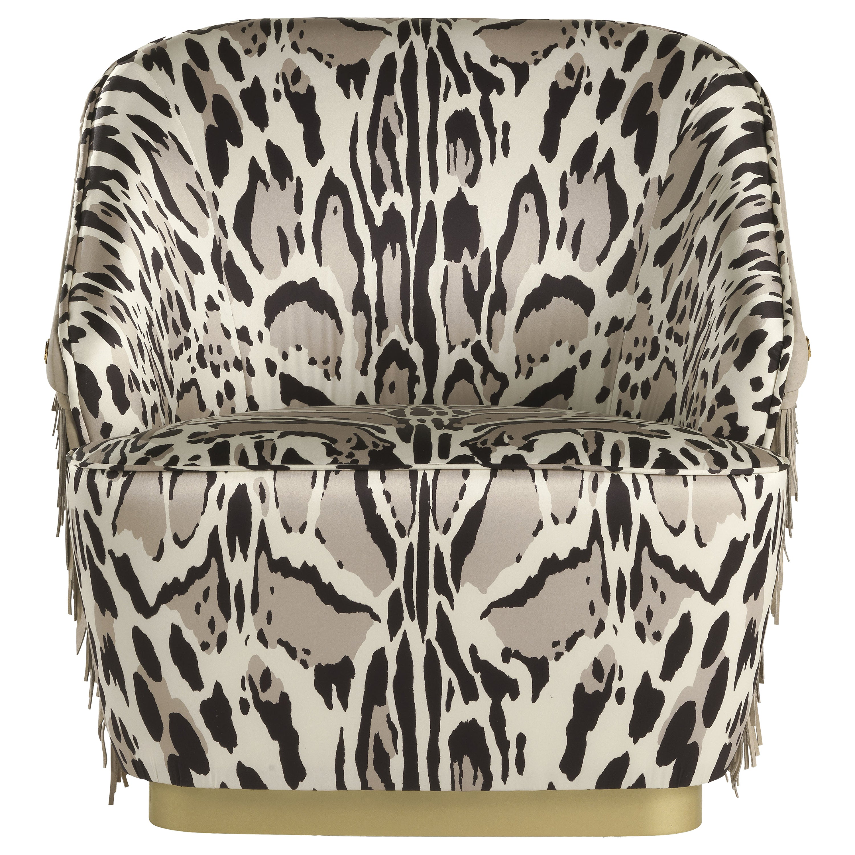 Dudley Armchair in Fabric and Leather by Roberto Cavalli Home Interiors