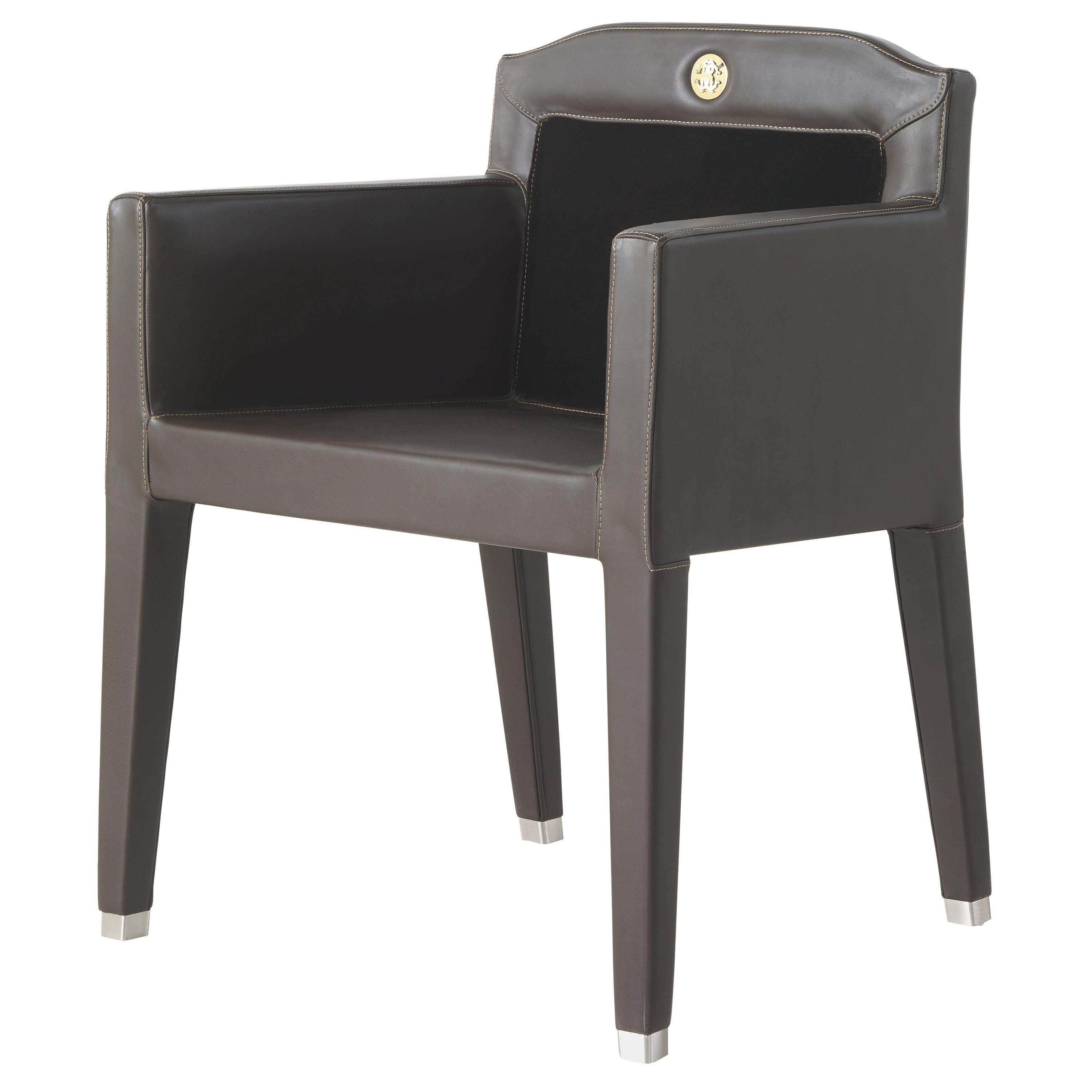 Spritz Armchair in Leather and Fabric by Roberto Cavalli Home Interiors