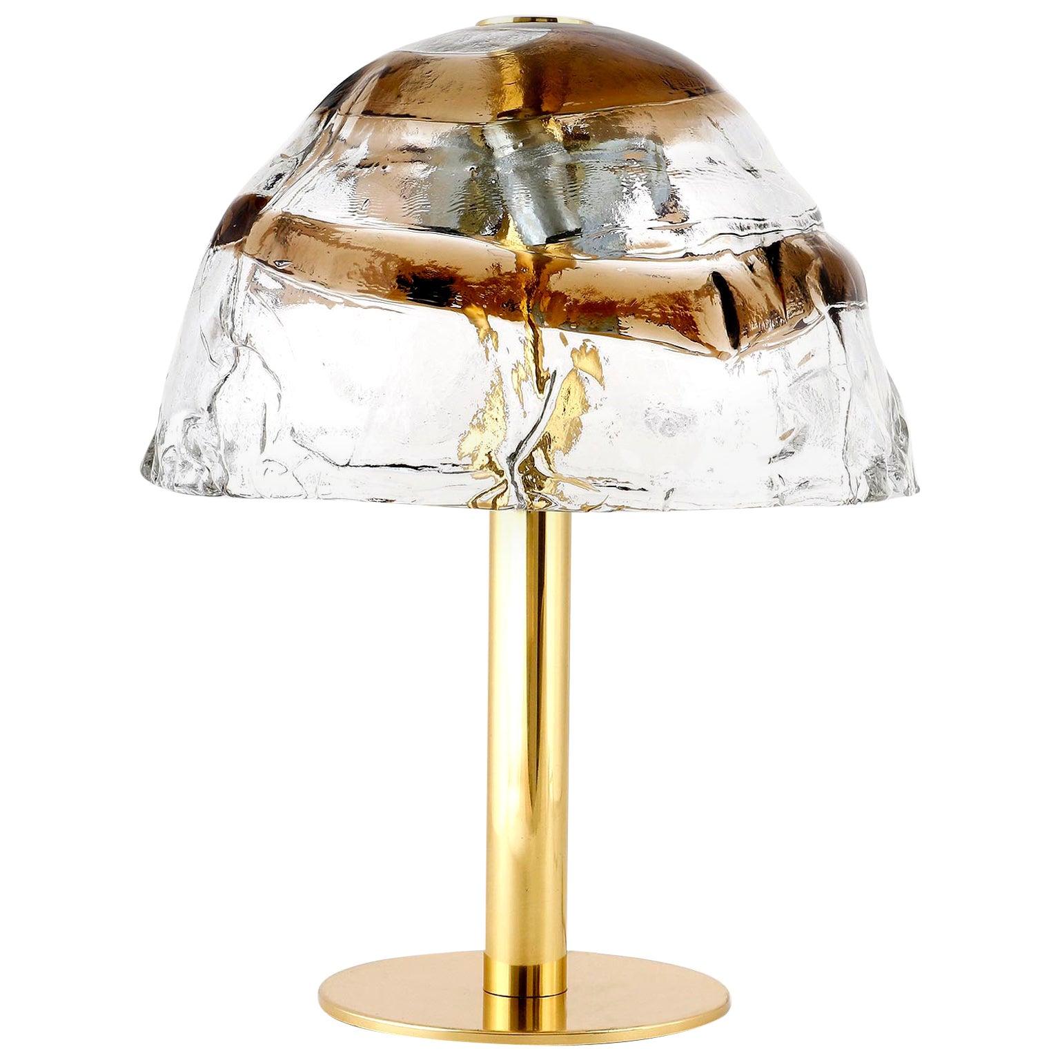 Kalmar Table Lamp 'Dom', Brass and Murano Glass, 1970