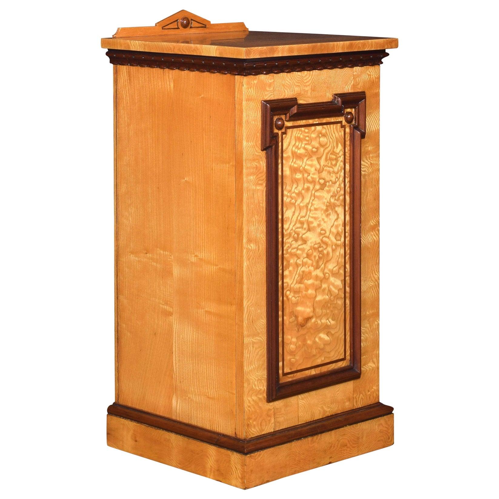 Figured Ash Bedside Cabinet