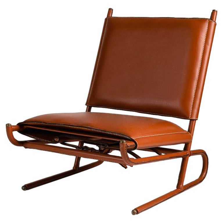 Jacques Quinet, Pair Lounge Chairs, France, circa 1955