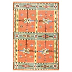 Lovely Vintage Scandinavian Swedish Kilim