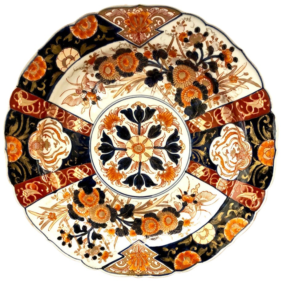 Pair of Japanese Imari Chargers, Meiji Period