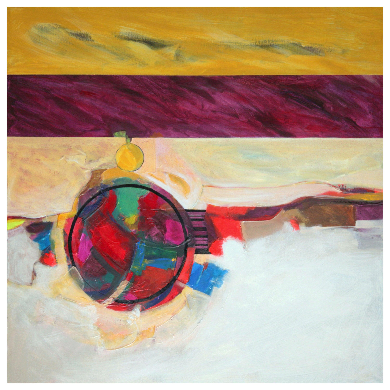 Marlene Burns Modern Abstract Acrylic Mixed-Media Painting Karma, 2009