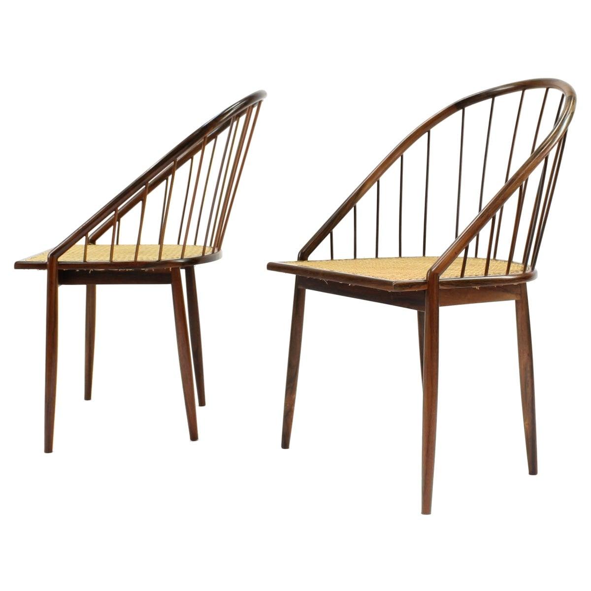 Set of Six '6' Brazilian Modern Curva Chairs by Joaquim Tenreiro