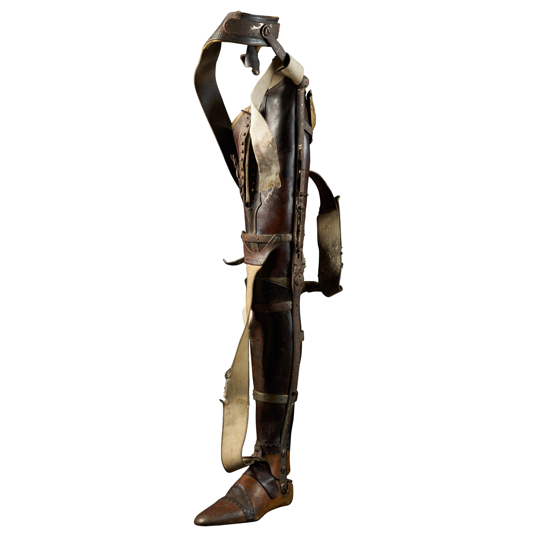 19th Century, Italian Original Wooden Prosthetic Leg