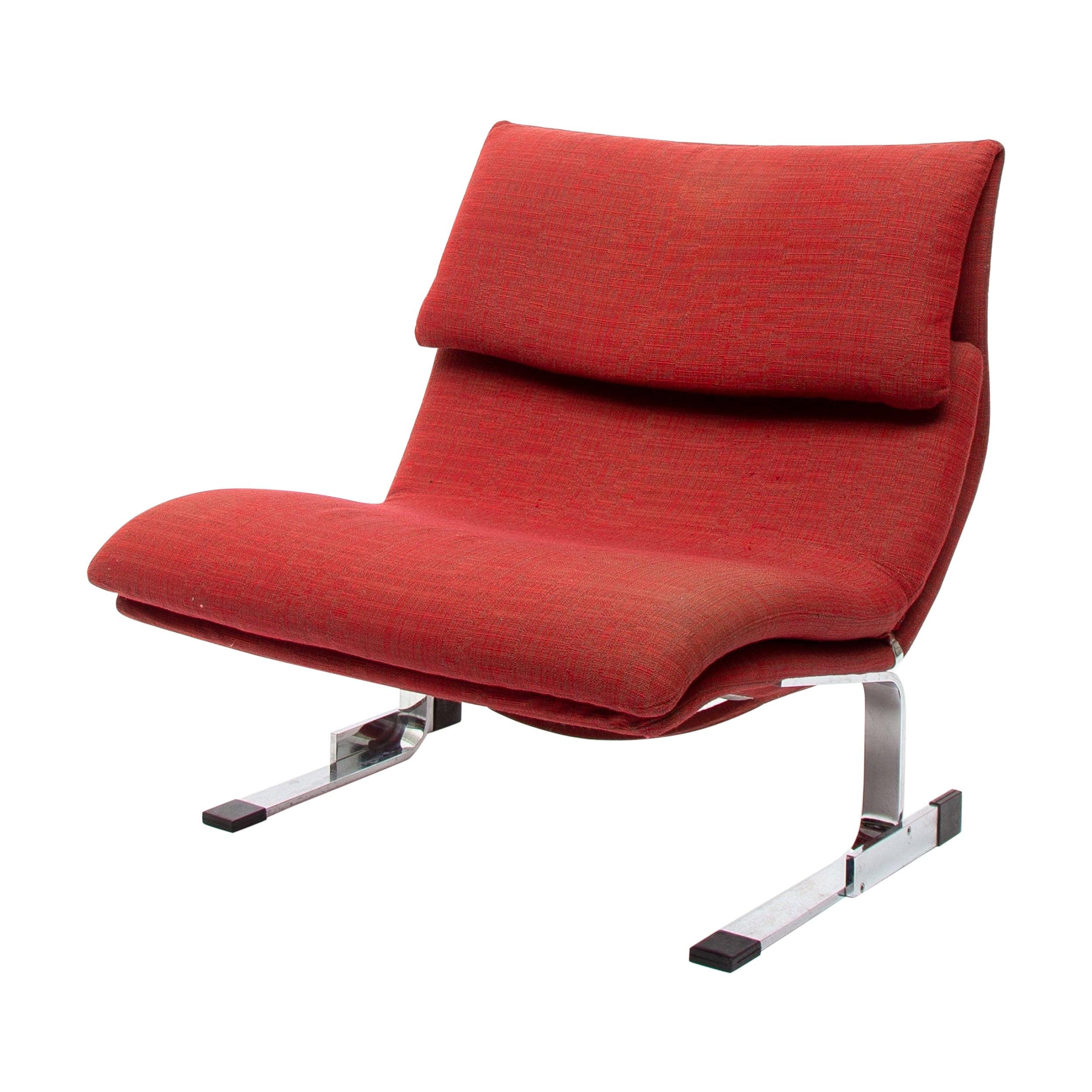 """Giovanni Offredi """"Onda"""" Wave Lounge Chair for Saporiti, 1970s"""