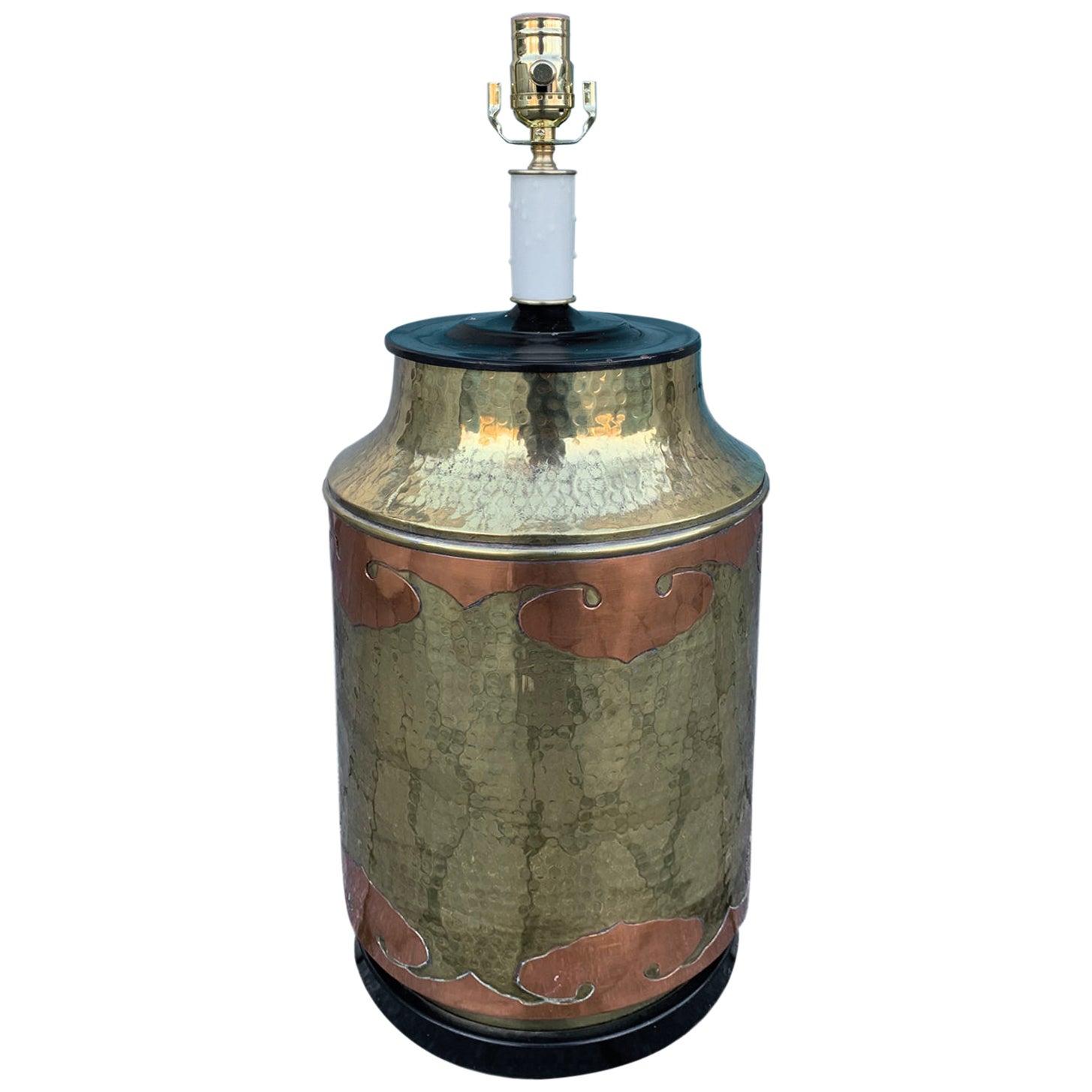 Mid-20th Century Brass Lamp