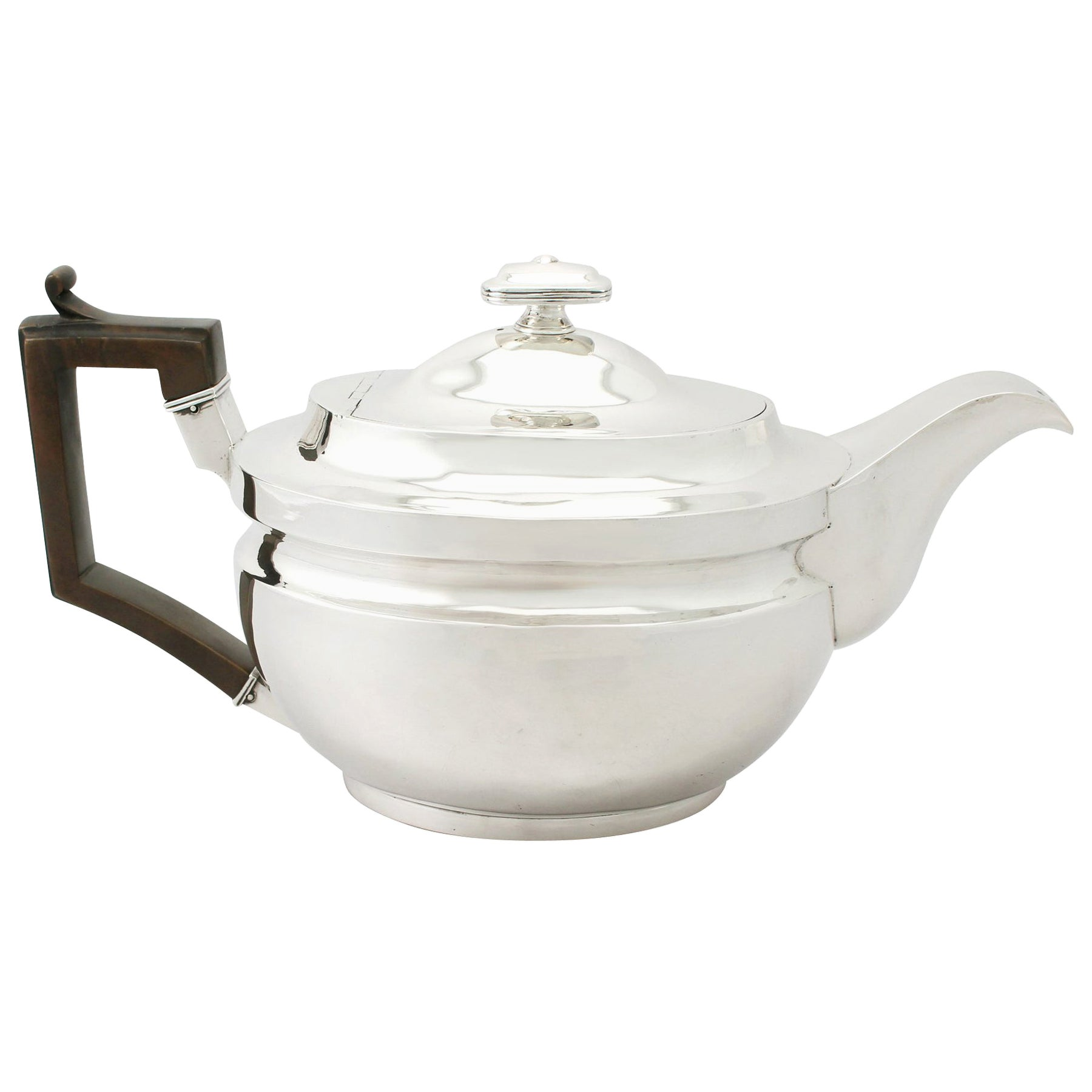 Antique George III 1807 English Sterling Silver Teapot by Stephen Adams II