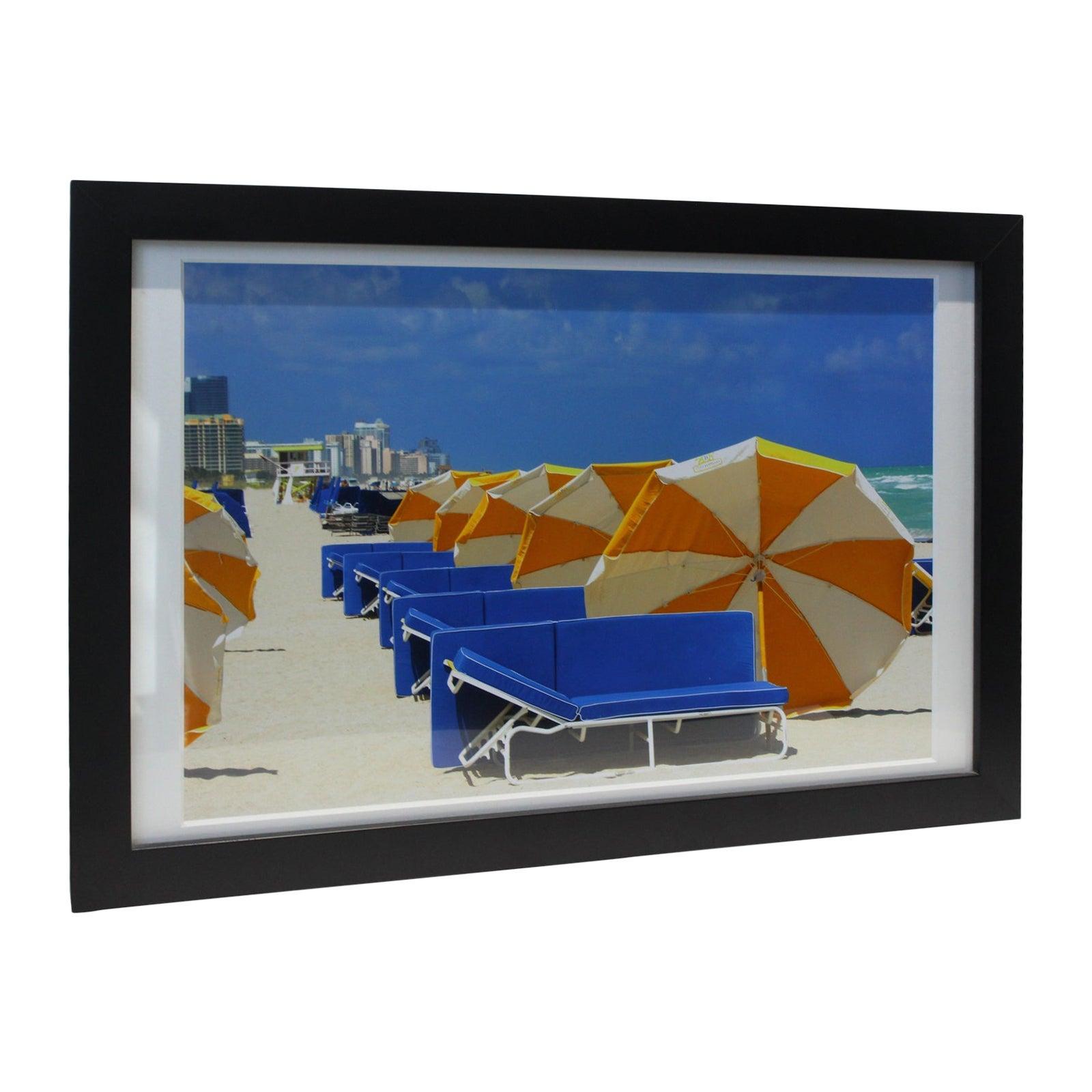 """Umbrellas at South Beach Miami""  Print"
