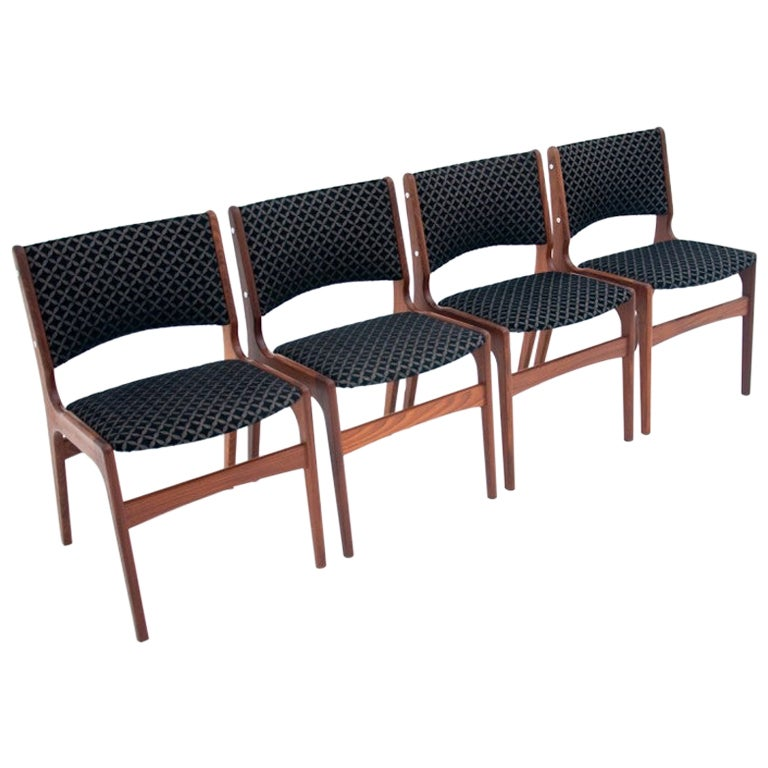 Four Dining Chairs by Johannes Andersen, Danish Design, 1960s