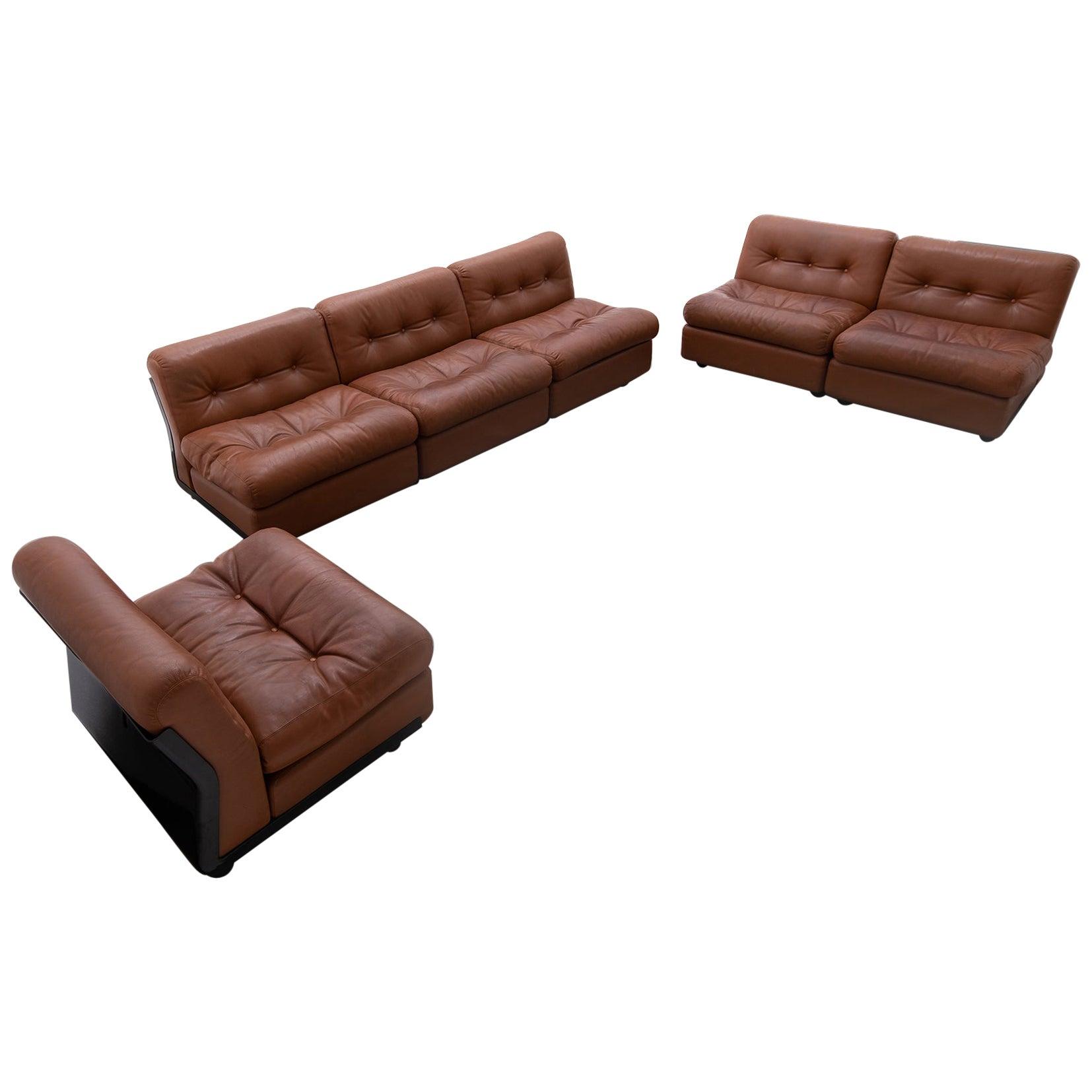 Sectional 'Amanta' sofa set by Mario Bellini for B&B Italia