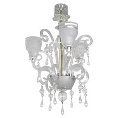 Chandelier in Murano Glass with Three Lights