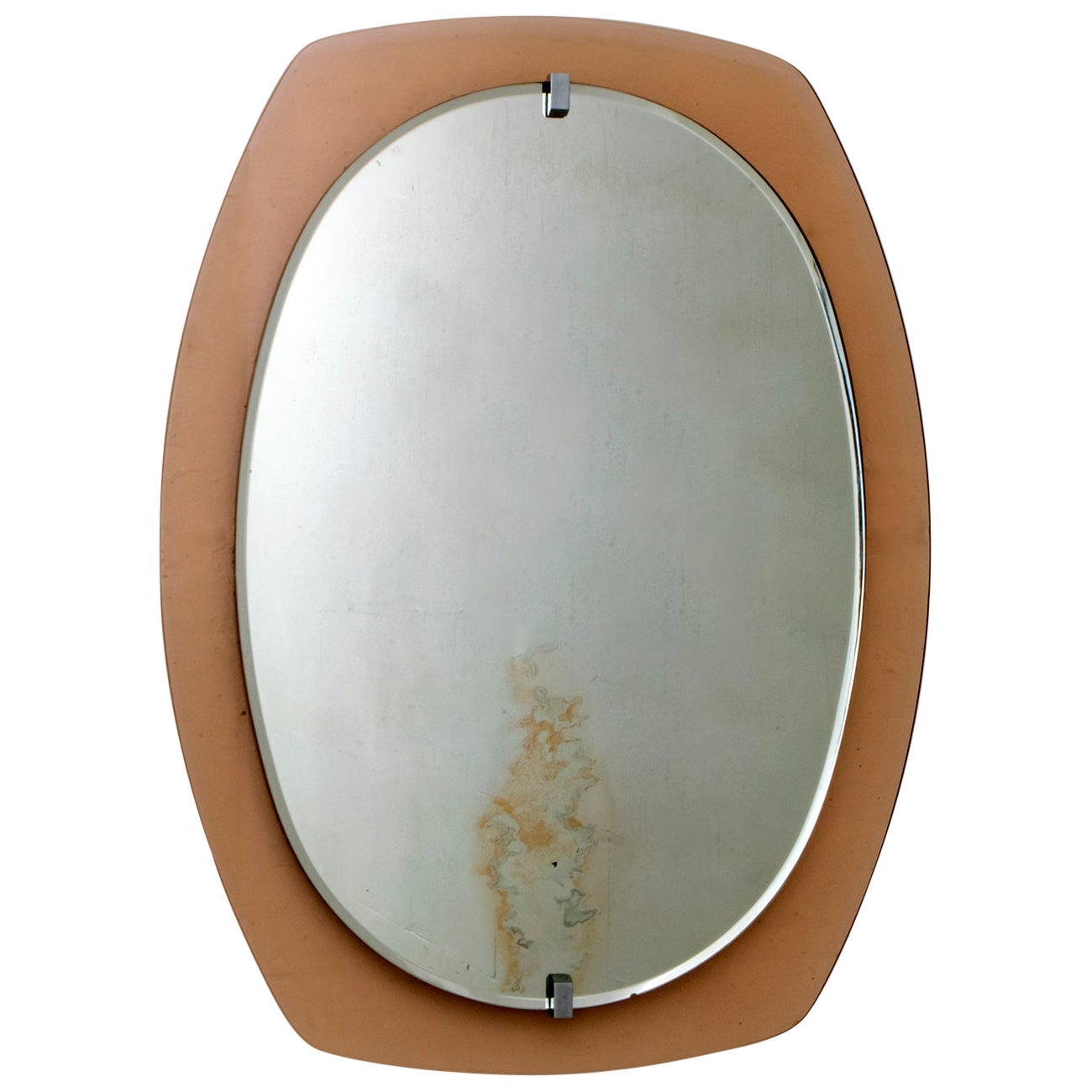 Veca Mid-Century Modern Italian Wall Mirror with Frame, 1960s