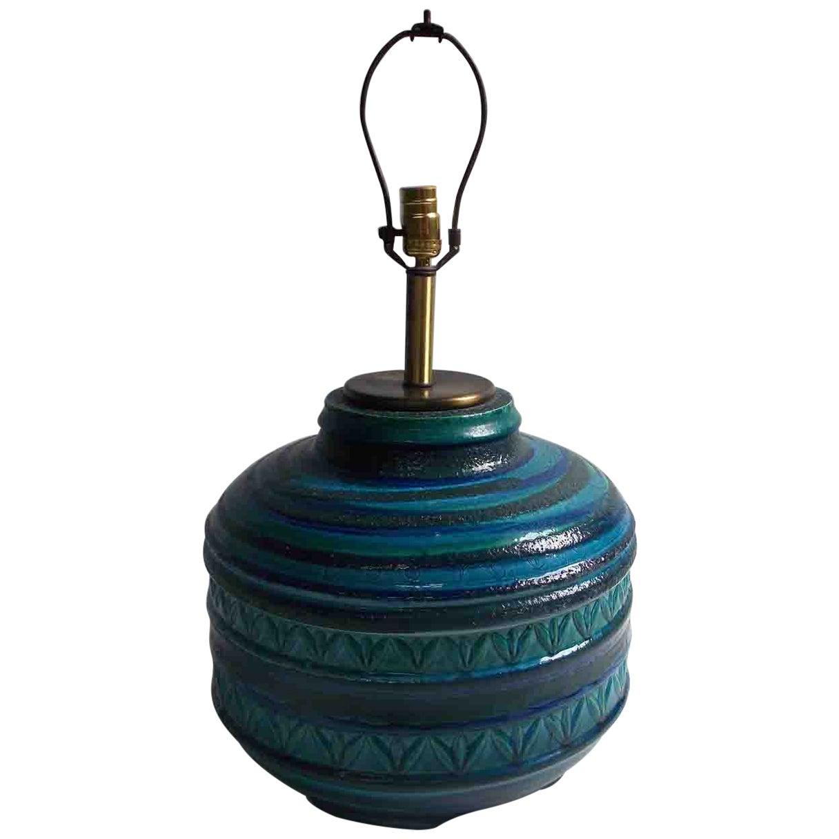 Aldo Londi for Bitossi Rimini Blue Lamp