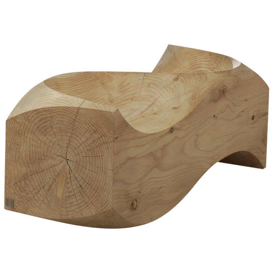 Love Seat, Cedar Bench, Designed by Jake Phipps, Made in Italy