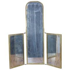 French Triptych Vanity Mirror