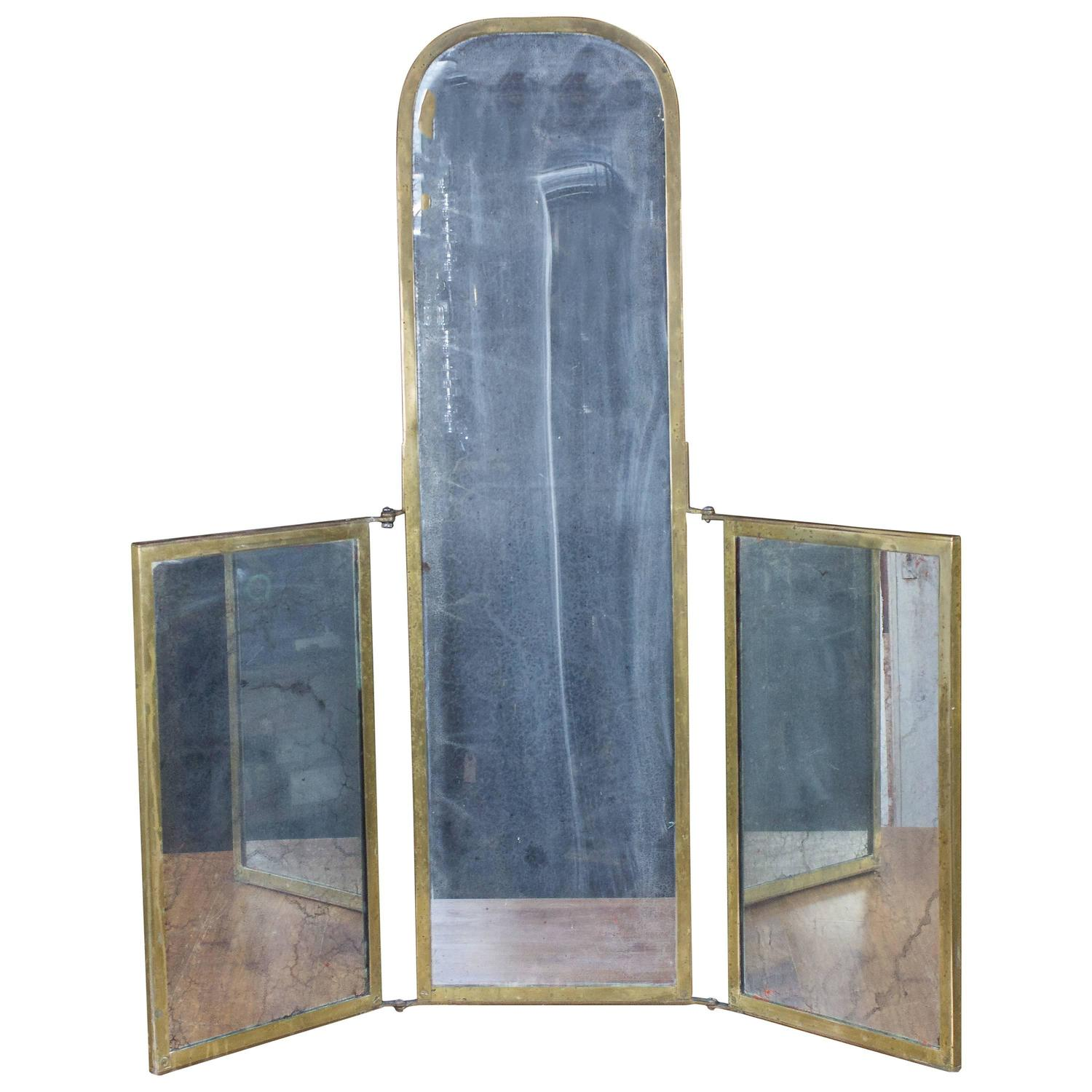 unusual triptych vanity mirror for sale at 1stdibs unique bathroom mirrors
