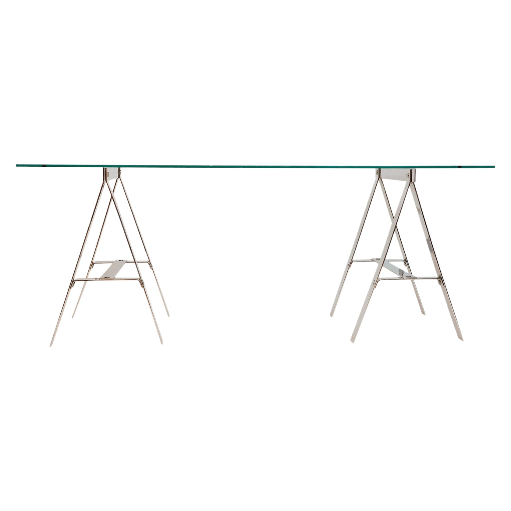 Minimalist Vittorio Introini Trestle Table